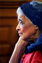 Vel Phillips, 90, was honored at a Common Council meeting at Milwaukee City Hall in this March 4, 2014 Journal Sentinel file photo for her many years as a civil rights advocate. Phillips paved the way as the first woman and first African American woman in the Milwaukee Common Council. She died in 2018.