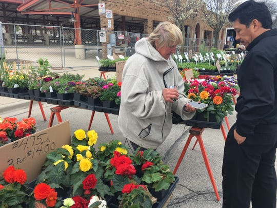Cindy Chapman, owner of Cindy's Green House & Vegetables, has sold plants and vegetables at the West Allis Farmers Market for 52 years.