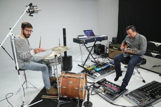 Drummer Devin Drobka joins Mario Quadracci (on guitar) in Ceiling Spirits.