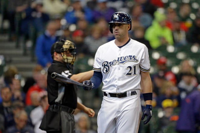Before beginning his stint in San Antonio, Travis Shaw was batting .163 in 40 games with the Brewers with four home runs and eight RBI.
