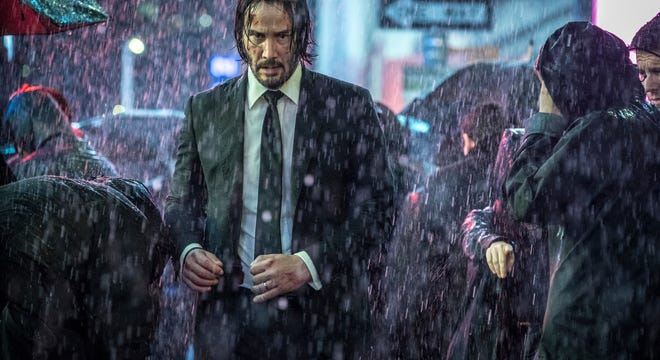 "Keanu Reeves is back in form, and back in trouble, in ""John Wick: Chapter 3 - Parabellum."""