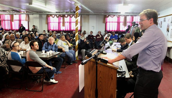 2016: A packed crowd of several hundred at St. Matthew C.M.E. church in Milwaukee Milwaukee County Executive Chris Abele explains why the County is moving children out of the troubled Lincoln Hills and Copper Lake correctional facilities. The community brainstorming panel on juvenile corrections in Milwaukee also included Mandela Barnes, John Chisholm and others.