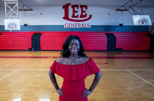 Ti'erra Lee is graduation from Lee High School in Montgomery, Ala., on Monday May 13, 2019.