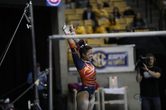 Auburn gymnast Sam Cerio.