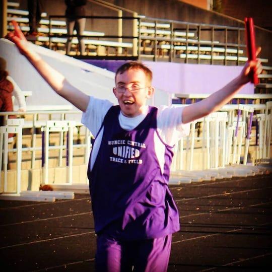 Muncie Central student Lake Barnhouse competes for the school's Unified track and field and bowling teams.