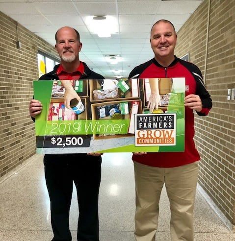 Local farmer directs $2,500 donation to Wapahani High School