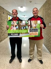 Wapahani High School principal Mark Fahey and assistant principal Matt Luce.
