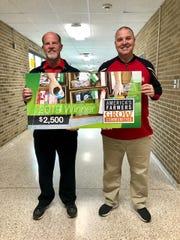 Wapahani High School principal Mark Fahey and assistant principal Matt Luce.
