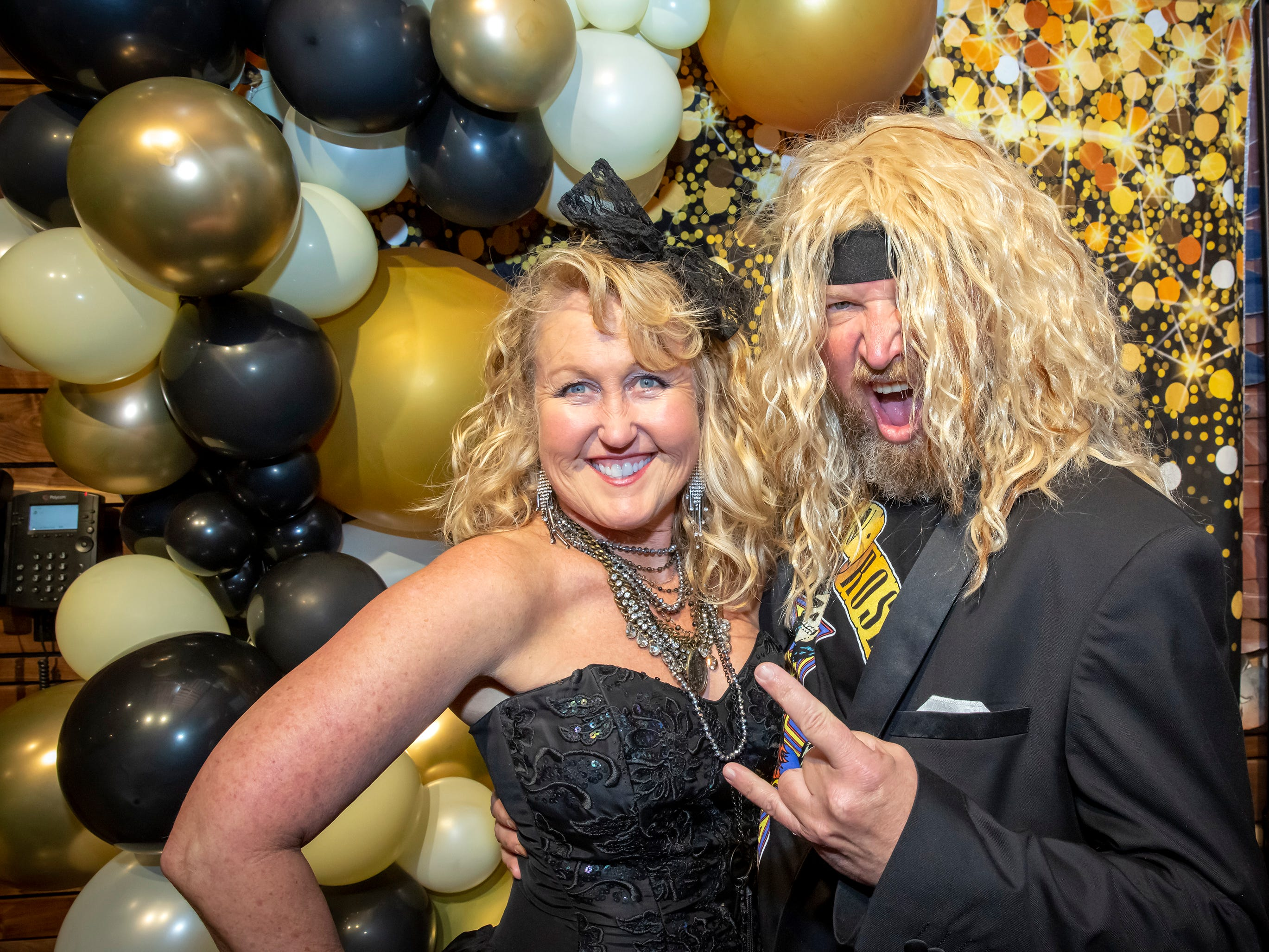 Karen McMahon and Glen Linthicum at the Adult Prom held at Hop Springs to benefit Kymari House, Saturday, May 11, 2019.