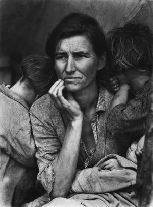 "Dorothea Lange. ""Migrant Mother,"" Nipomo, California, 1936. Gelatin silver print."