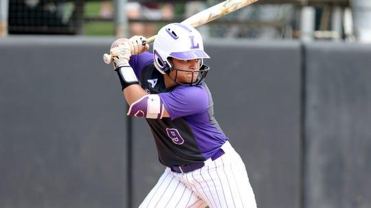 Lipscomb's Hannah DeVault (9) bats during an NCAA softball game on Saturday, April 6, 2019 Jacksonville, Fla.