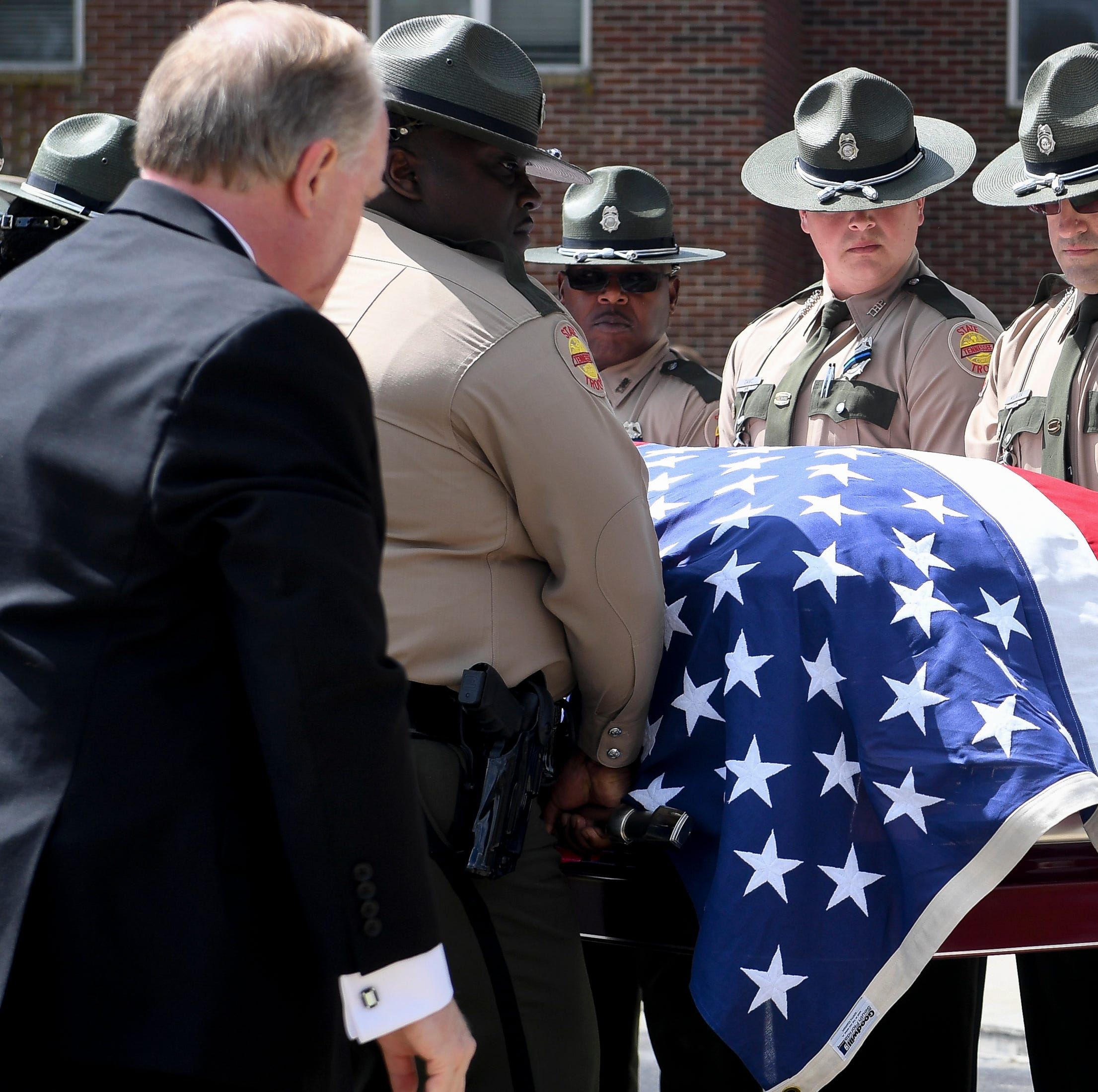 Law enforcement from around Tennessee gather for funeral of THP Trooper Matthew Gatti