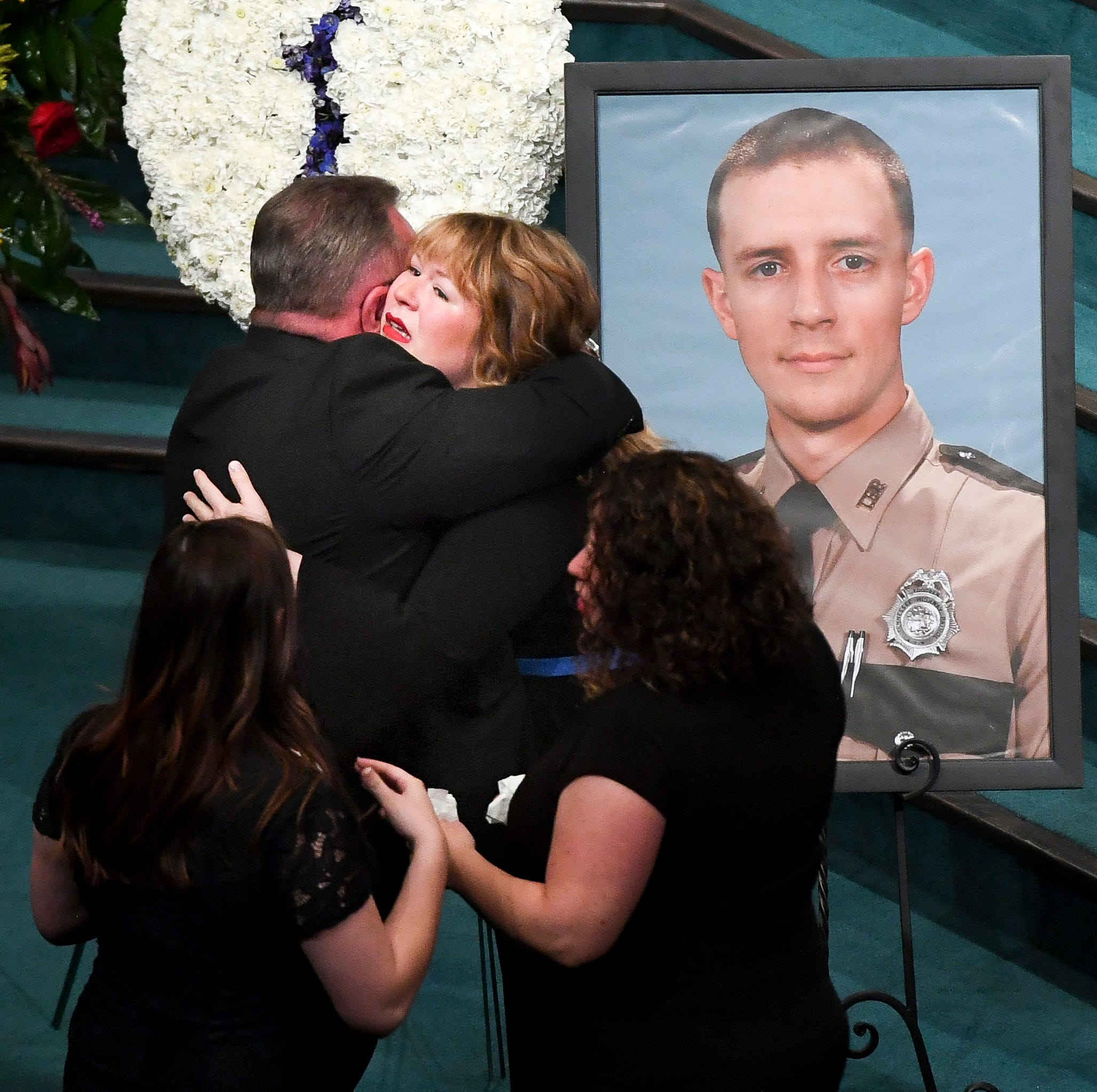 Forever a servant: THP Trooper Matthew Gatti laid to rest by family, friends, brothers in blue
