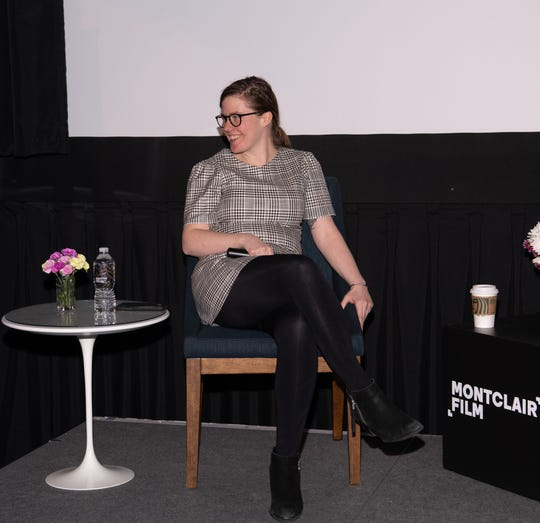"""Erin Lee Carr speaks at the 2019 Montclair Film Festival about her new documentary, """"I Love You, Now Die,"""" and her memoir """"All That You Leave Behind,"""" about her relationship with her father, David Carr. May 11, 2019."""