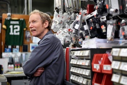 Bob Parkinson has been working at Davidson's Plumbing Supply since he was 15 years old, and is now celebrating 50 years with the company. Photographed in the store in Paramus, NJ on Monday, May 13, 2019.