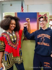 Eastside High's National History Day finalists Sienna Rojas and Gabriel Torres.