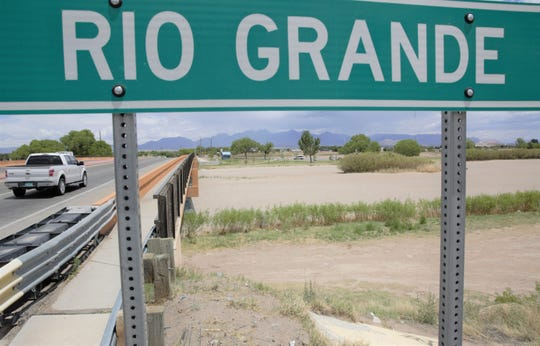 The Rio Grande riverbed sits dry on Monday, May 13, 2019 near Picacho Avenue in Las Cruces. Southern New Mexico irrigators have delayed releasing water from upstream reservoirs until more snowmelt run-off makes its way from Colorado into New Mexico.