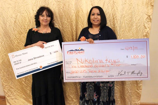 Jana Strnadova, a special education teacher at Valley View Elementary School, as runner-up for Teacher of the Year. Nikolina Keyes, from Rio Grande Preparatory Institute, was named the Teacher of the Year for 2020.