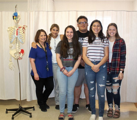 The Alamogordo High School HOSA club from left: HOSA Sponsor Darlene Mellen, Kylie Williams, Alngelina Flores  , Issac Duarte, Ella Dean and Savannah Blevins. Not pictured is Ashley Evans.