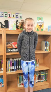"""Savannah Graham has been announce as White Mountain Elementary school """"Student of the Month"""" by principal Rebecca Ferguson."""