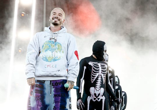 J Balvin performs at SOMETHING IN THE WATER on April 27, 2019 in Virginia Beach City.