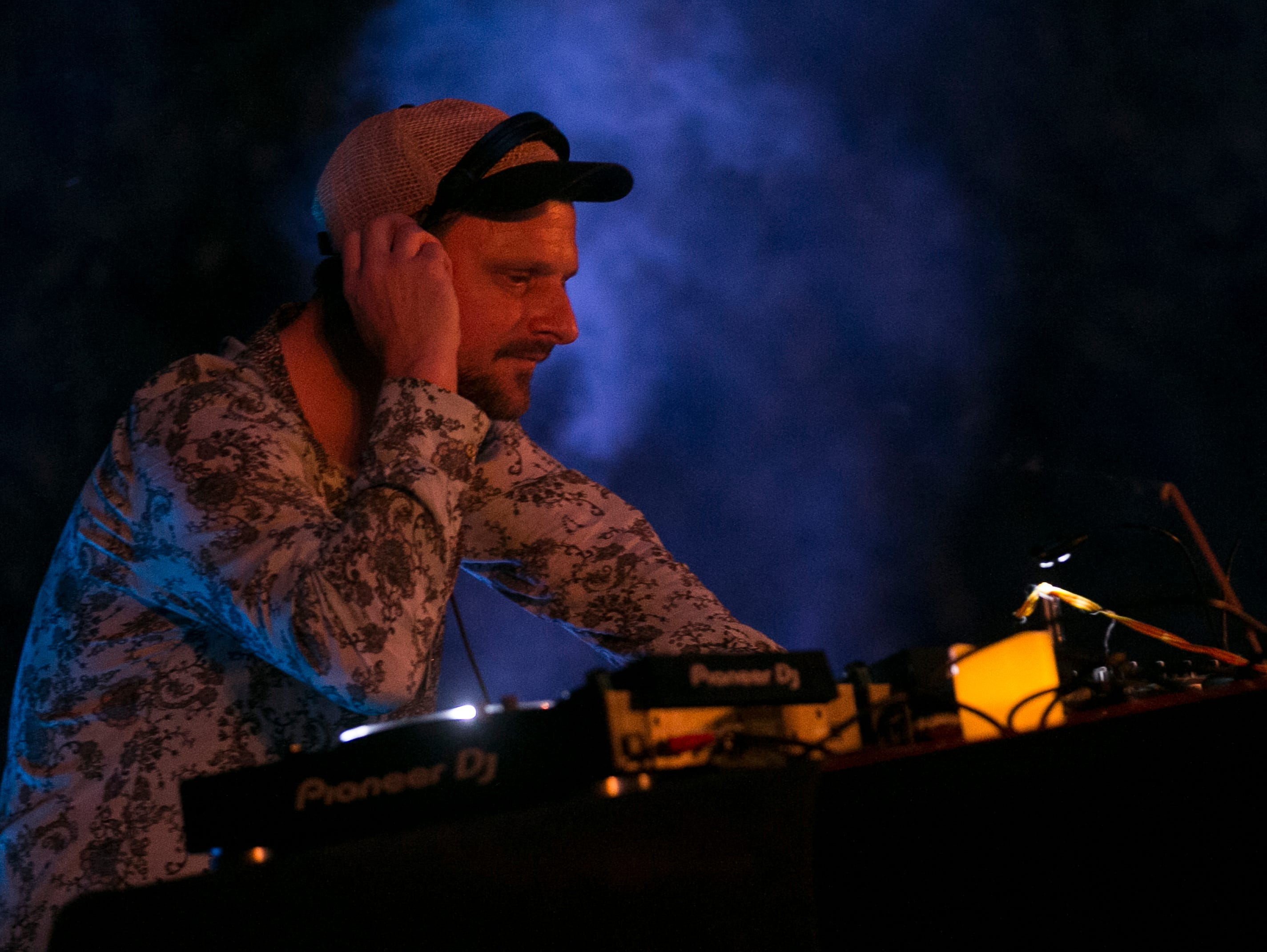 DJ Koze performs at the 2019 FORM Arcosanti music festival near Camp Verde, Arizona, on May 12, 2019.