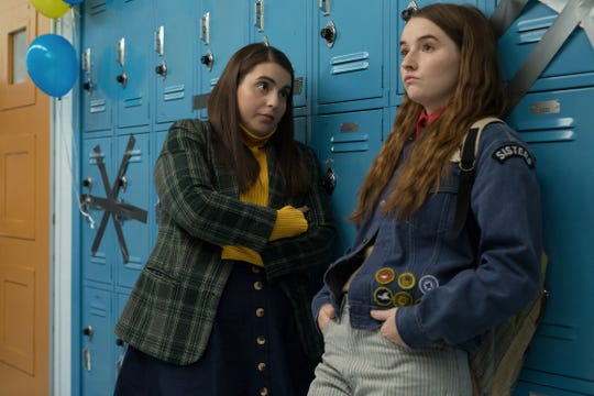 "Molly (Beanie Feldstein) and Amy (Kaitlyn Dever) want to make sure their school's student council is left in good hands as they prepare to graduate in ""Booksmart."""