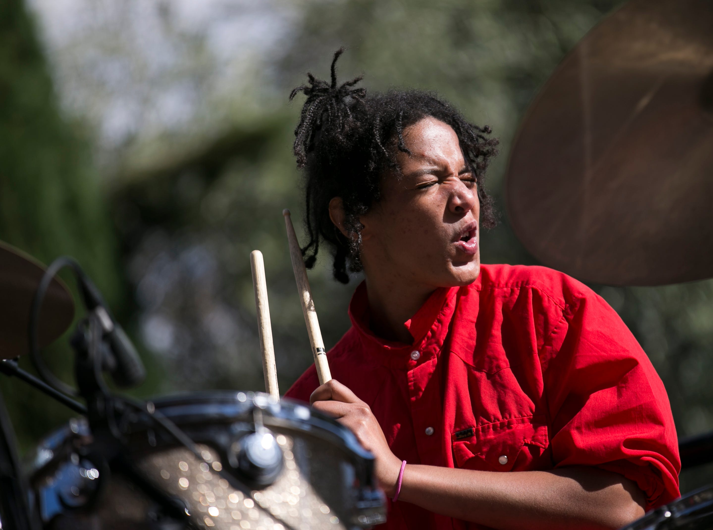 Sasami performs at the 2019 FORM Arcosanti music festival near Camp Verde, Arizona, on May 12, 2019.