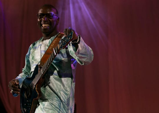 Vieux Farka Toure performs at the 2019 FORM Arcosanti music festival near Camp Verde, Arizona, on May 12, 2019.