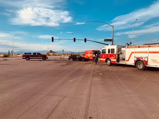 Peoria police and fire investigate a fatal crash on Lake Pleasant and Westwing Parkways that left one man dead and others seriously injured.
