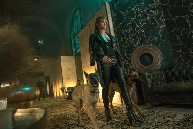 """Sofia (Halle Berry) is a hotel manager in """"John Wick: Chapter 3 – Parabellum."""""""