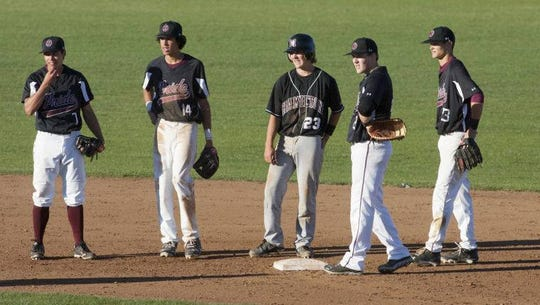 Cole Tucker (second from left) during his high school baseball days at Phoenix Mountain Pointe.