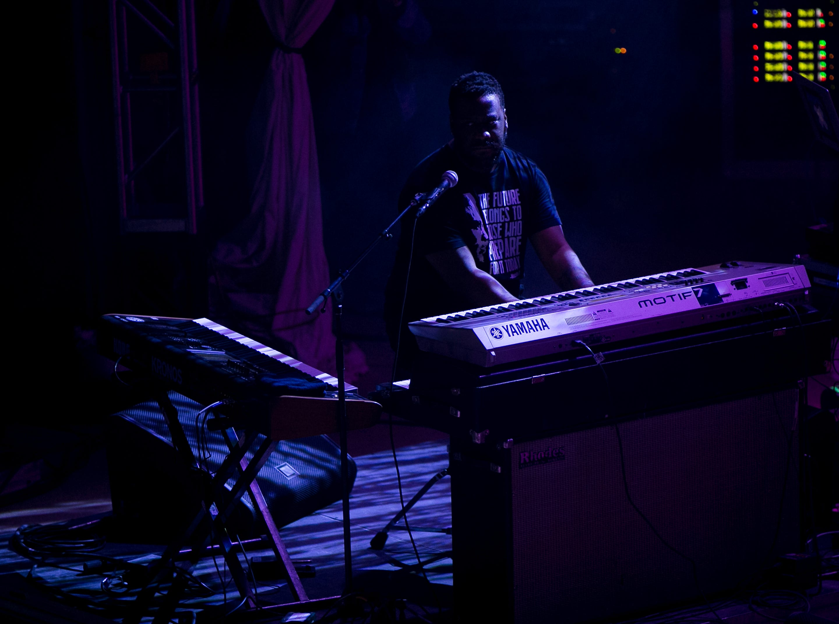 Robert Glasper performs at the 2019 FORM Arcosanti music festival near Camp Verde, Arizona, on May 12, 2019.