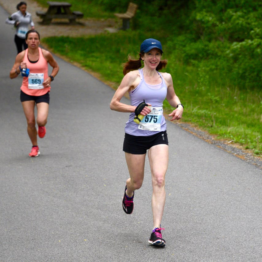 Road club's running 'ambassador' Connie Seigh may be sidelined but she still inspires