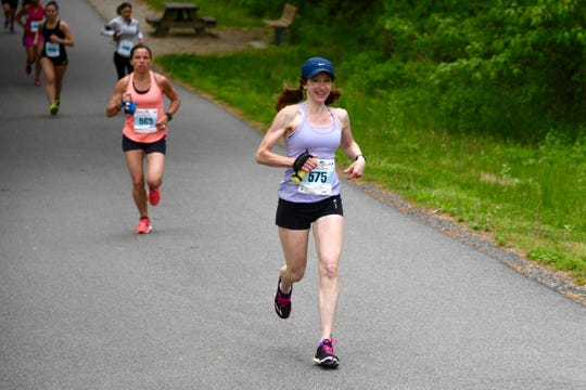 Connie Seigh has been one of the leading women at local road races for almost two decades.