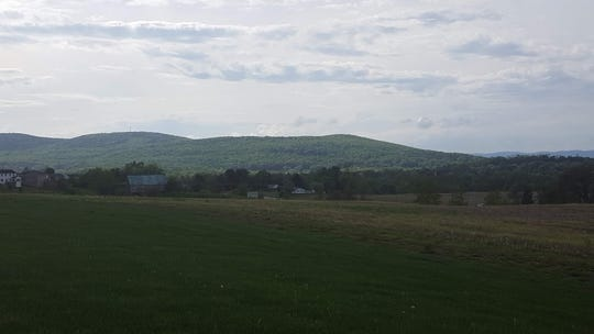 Blue Ridge terminus, looking northeast