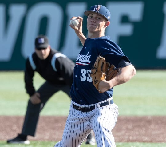Nevada pitcher Owen Sharts and his Pack teammates will be scoreboard-watching this weekend.