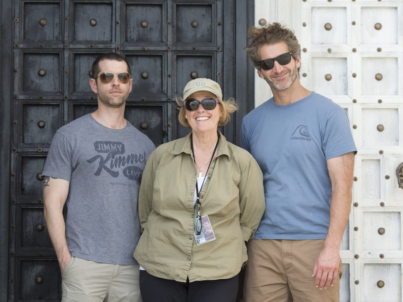 Bernie Caulfield, center, stands with 'Game of Thrones' showrunners D.B. Weiss and David Benioff. Caulfield, who grew up in Rochester, is an executive producer on the HBO series.