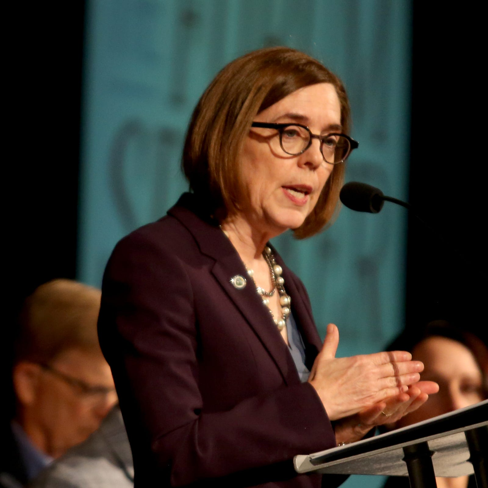 Oregon Gov. Kate Brown tells Salem chamber school business tax is good solution