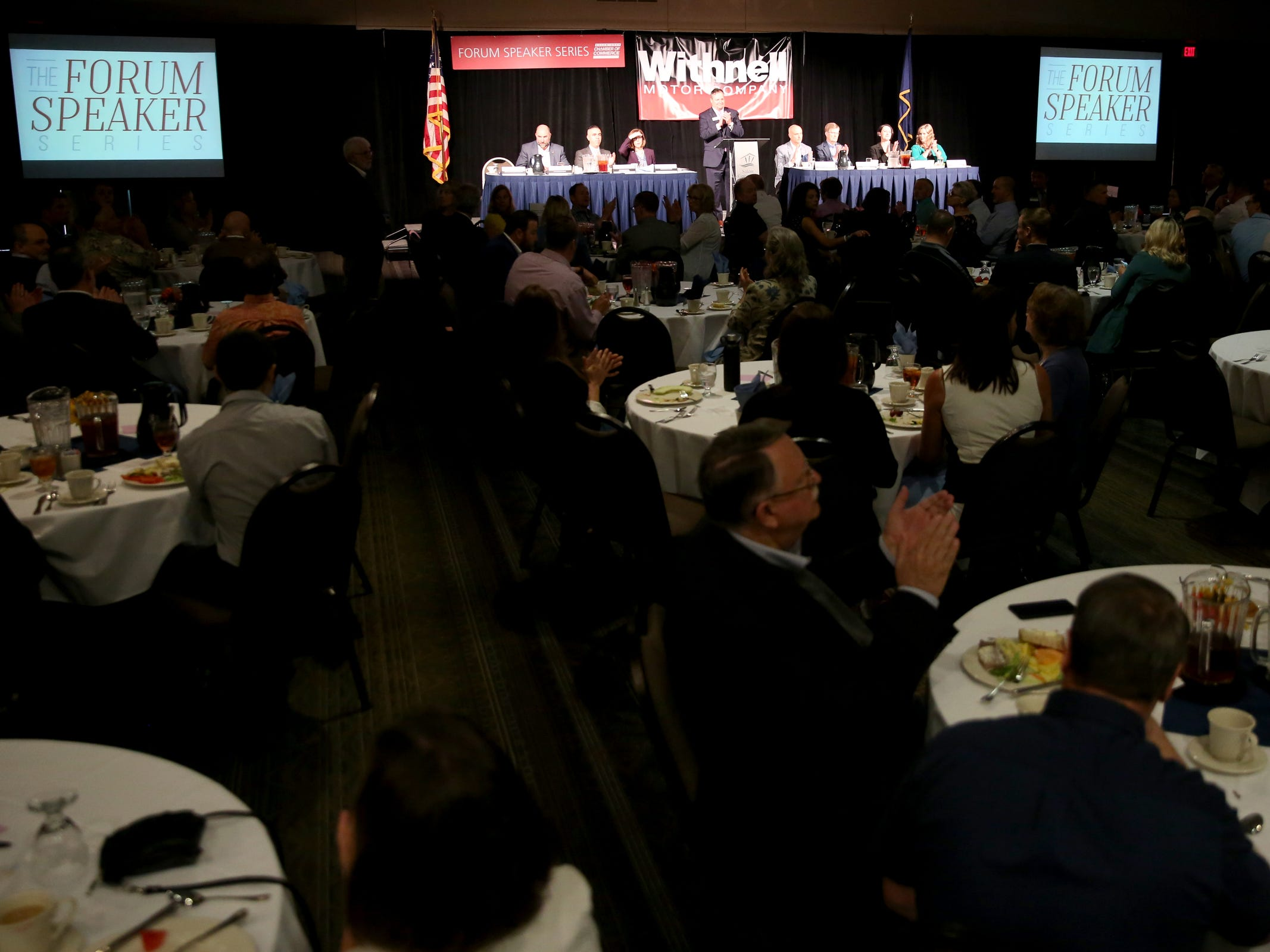 The Salem Area Chamber of Commerce monthly Forum Speaker Series at the Salem Convention Center on May 13, 2019.