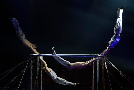 High Bars performers in the Paranormal Cirque. The R-Rated circus show runs in Shreveport May 16-19 at the Louisiana State Fairgrounds.