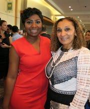 """Shenerika Flemings, representing Mayor Adrian Perkins, and Ursula Bowman at """"Healers."""""""