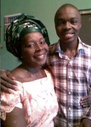 Igho Ekakitie and his mother, Phebe.