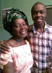 Igho Ekakitie and his mother, Phebe.
