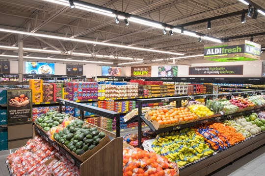 A publicity photo from Aldi shows the produce section of a store. A new Aldi is planned for Branson in 2020.