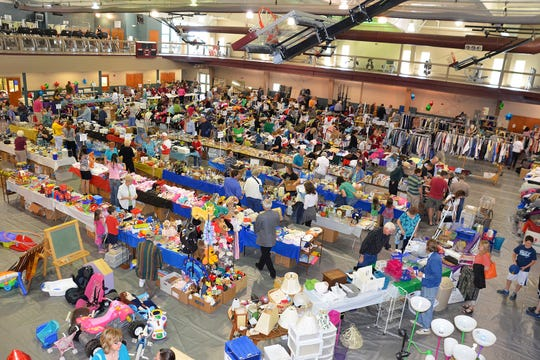 The Evangel University Auxiliary's Colossal Garage Sale will open at 8 a.m. Wednesday and run through noon Saturday.