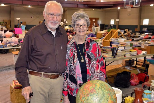 Troy and Marjorie Compton have been involved with Evangel University since it started 1955, and were back on campus this week as volunteers set up for the annual Colossal Garage Sale.