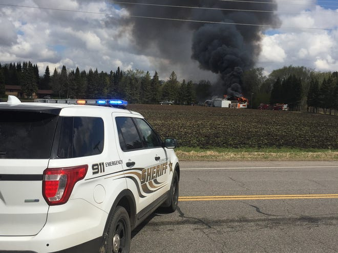 A pole shed on Stearns County Road 7 in St. Augusta was a complete loss after a fire Sunday, May 12.