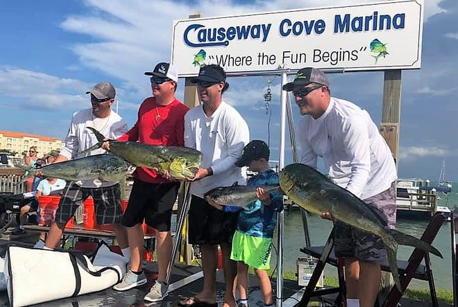 The White's Tackle/Smoke Show fishing team caught several dolphin up to 23 pounds Saturday while fishing in the Fishing Frenzy and Stuart Sailfish Club KDW tournaments out of Fort Pierce ad Stuart, respectively.