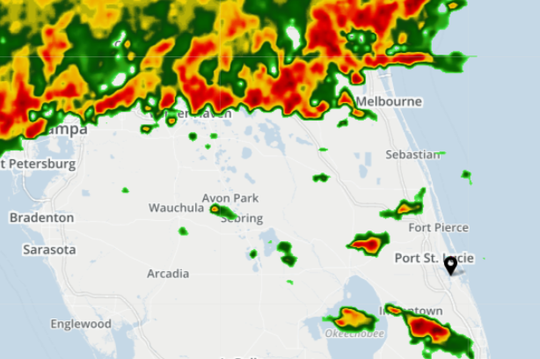 Radar 2:05 p.m. May 13, 2019